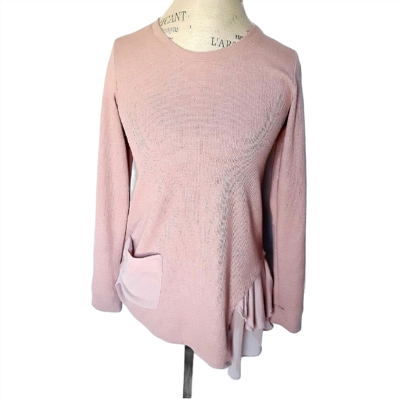 LOGO Lori Goldstein Blush Pink Flowy Tunic XXS